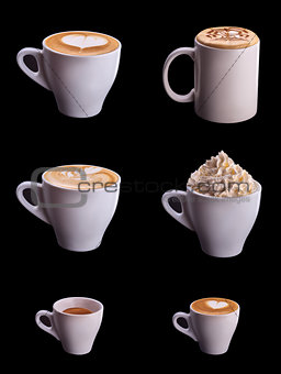 Six coffee cup set