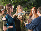 Wicca People with Sage Incense