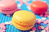 macarons of different colors and flavors