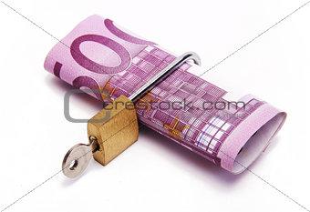 five hundred euros locked