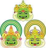 Kathakali Face Mask, Paint