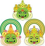 Kathakali Face Mask, Paint