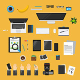 Set flat vector for you concept