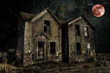 Haunted House with Blood Moon