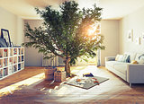 tree in a room