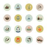 Spa circle icon