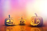 3D Halloween pumpkins