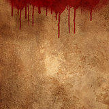 Blood splats on grunge background