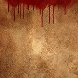 Blood splats on grunge background