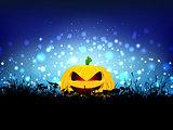 Halloween pumpkin landscape