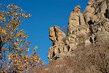 wonderful rocks of Ghosts valley in autumn