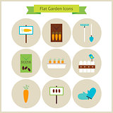Flat Garden and Nature Icons Set