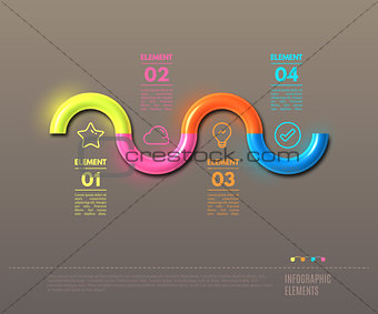 Business Infographics tube concept.