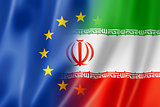 Europe and Iran flag
