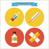Flat Medicine Website Icons Set