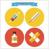 Flat Medicine Website Icons Set