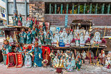 statues shrine Tin Hau Temple Kowloon Hong Kong