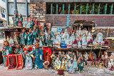 statues shrine Tin Hau Temple Kowloon Hong Kong