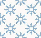 Christmas knitted seamless pattern with blue snowflakes