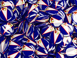 Background with round pins with flag of american samoa