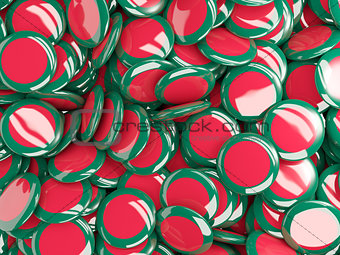 Background with round pins with flag of bangladesh