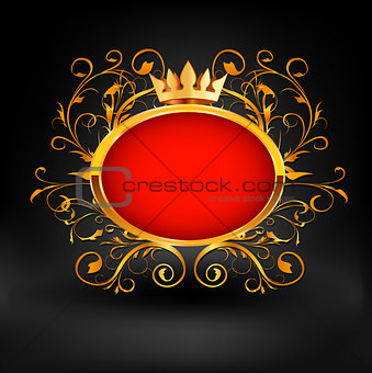 Frame with text on dark background. Vector