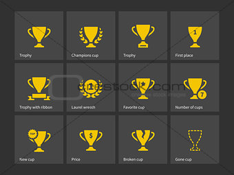 Champions trophy icons.