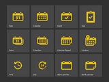 Calendar icons.