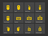 Desktop computer mouse and keyboard icons.