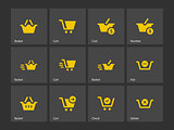Checkout icons.
