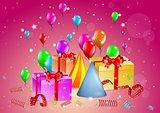 celebration illustration with presents