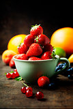 Fresh strawberry and fruits