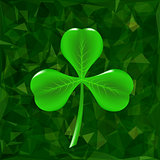 Green Clover Leaf Icon