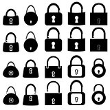 Set of Locks Silhouettes