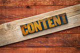 content word - rustic sign