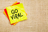 Go viral - sticky note