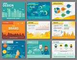Urban design of infographics presentation slides template