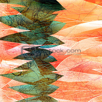 watercolor background with vegetative elements
