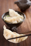 Popular Asian dish dumplings soup
