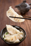 Popular Asian cuisine dumplings soup