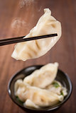 Popular Asian gourmet dumplings soup