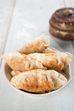 Asian gourmet pan fried dumplings