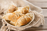 Famous Asian food pan fried dumplings