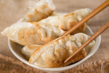 Famous Asian meal pan fried dumplings