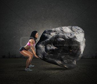 Power of muscular woman