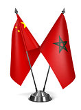 China and Morocco - Miniature Flags.