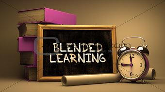 Blended Learning Handwritten on Chalkboard.