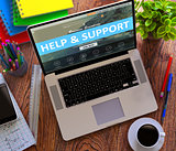 Help and Support. Office Working Concept.