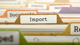 File Folder Labeled as Import