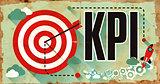 KPI Word on Grunge Poster.